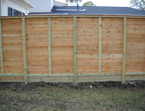 Horizontal Cap Top Staggered Cactus Fence A Houston