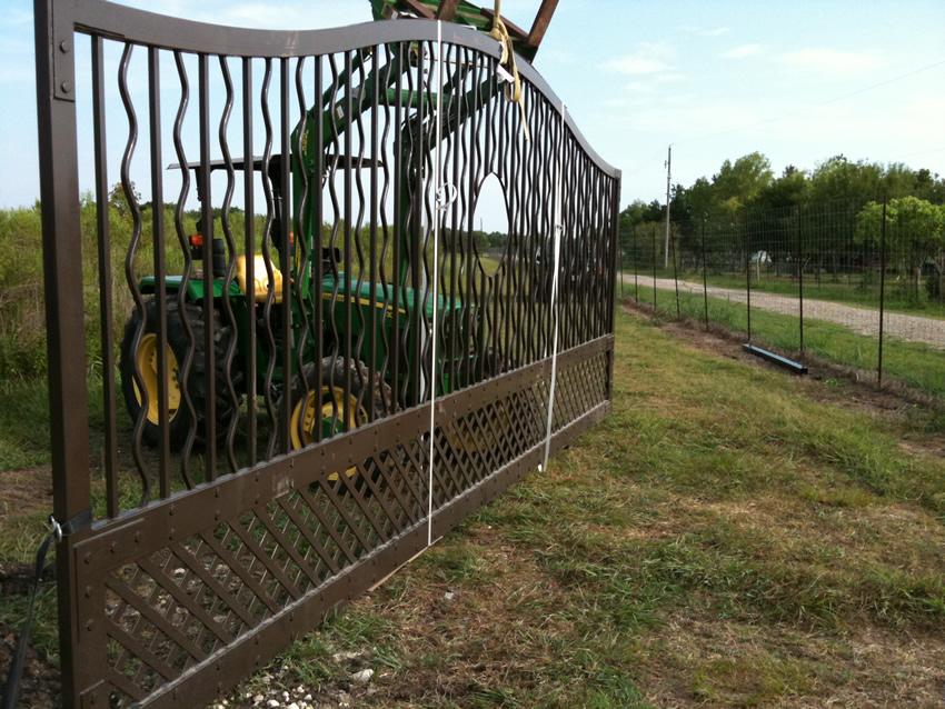 Estate Gate Cactus Fence A Houston Fence Company
