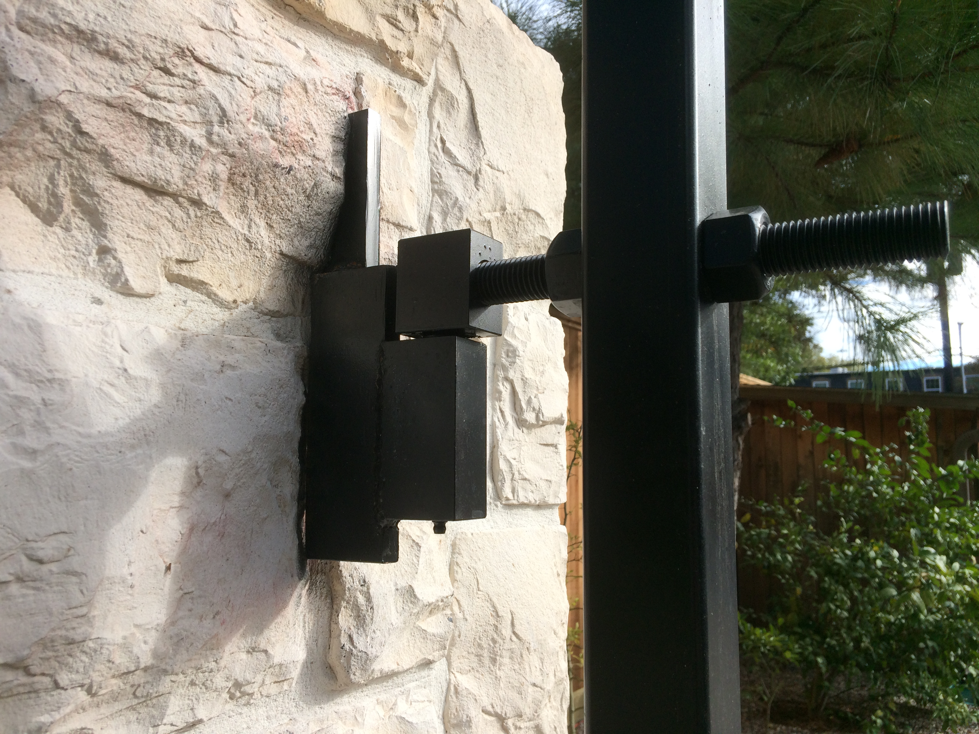 Adjustable Driveway Gate Hinge Cactus Fence A Houston