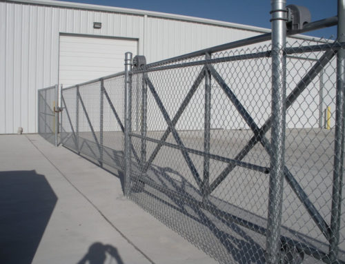 Galvanized Chain Link Fence With 16 Cantilever Gate