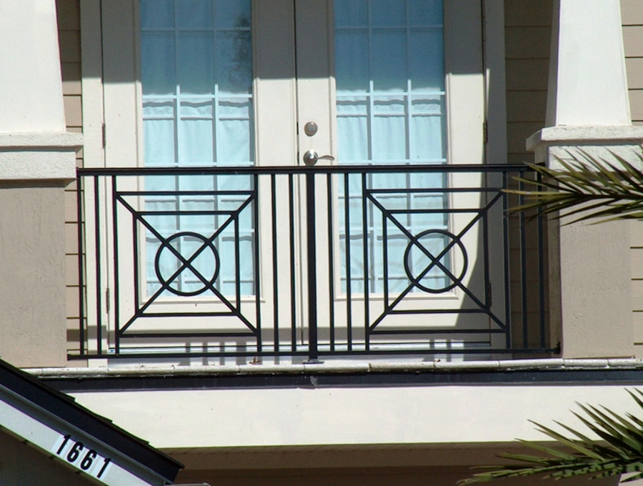 Wrought iron stair railings interior cactus fence a for Inside balcony railing