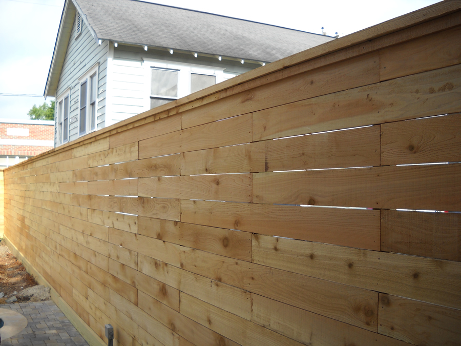 Horizontal No Cap Rail Cactus Fence A Houston Fence Company